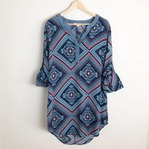 Umgee | Boho Print Shirt Dress